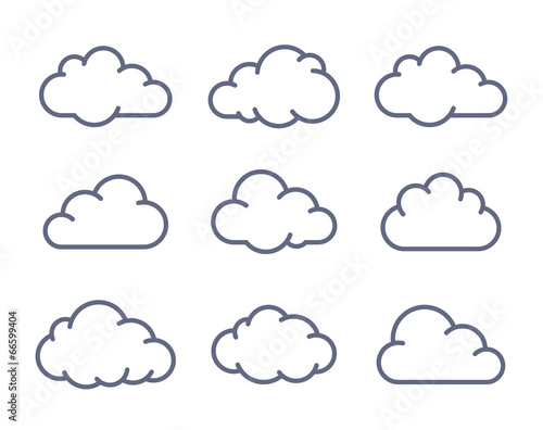Cloud shapes collection - 66599404