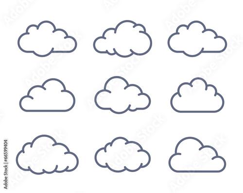 Kolekcja kształtów chmur