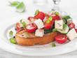 salad on bread