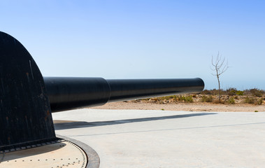 Gun at Cabo Tinoso Mazarron Murcia Spain