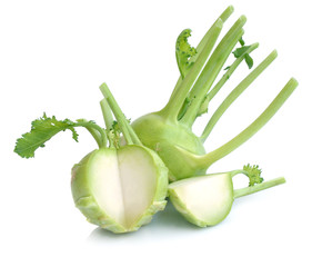 kohlrabi isolated on white background