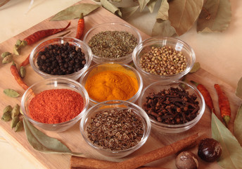 spices on the table, useful for acute