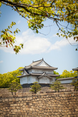 Osaka castle turret, the north turret castle,Japan. MAY 17,2014