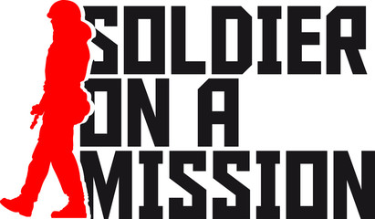 Soldier on a Mission Cool Design logo
