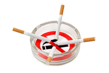 Sign of ashtray