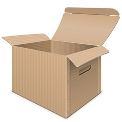 Vector Empty Carton Box
