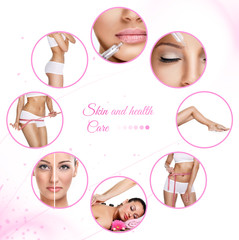 template for skin and spa therapy