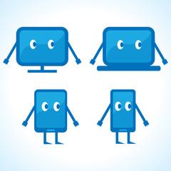 Cartoonish gadget designs stock vector