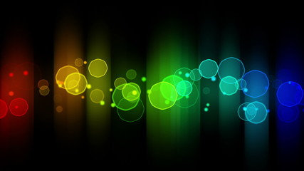 colorful glowing bokeh lights loop background