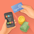 Payments, flat design vector illustration