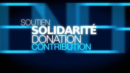 Solidarité dons contribution soutien participatif nuage de mots