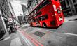 Obrazy na płótnie, fototapety, zdjęcia, fotoobrazy drukowane : London Bus Traffic