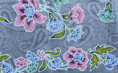 Texture of thai fabric