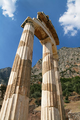 Doric pillars of Delphi Tholos