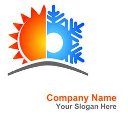 logo climatisation soleil flocon