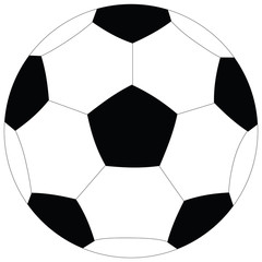 Soccer ball on a white background. raster