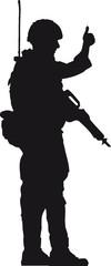 Soldat Ok Handzeichen Daumen hoch