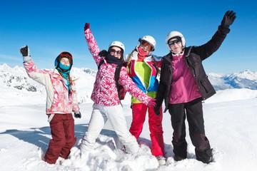 vacances ski neige en famille