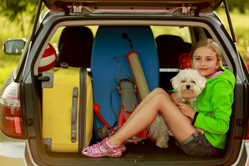 Summer holiday, Travel - girl ready for the vacation