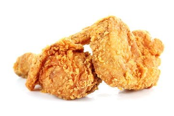 fried chicken drumsticks and wing