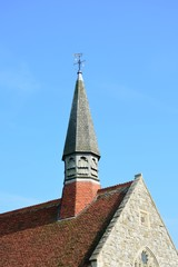 church roof and tower