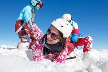 Jeunes vacances sport d'hiver