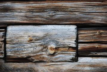 Holz mit antiker Platina
