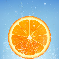 orange in water