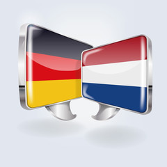 Sprechblasen in deutsch und niederländisch