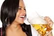 Mädchen mit Bier in der Hand