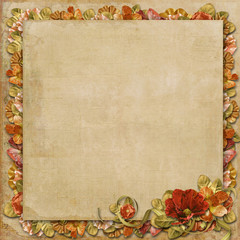 Vintage background with gorgeous flowers