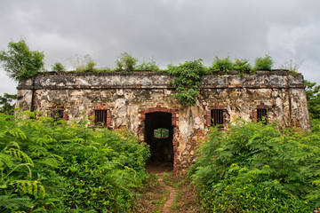 Prison ruins on Isle Of Pines, New Caledonia