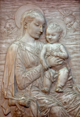 Veinna - Relief of Madonna  in Minoriten church