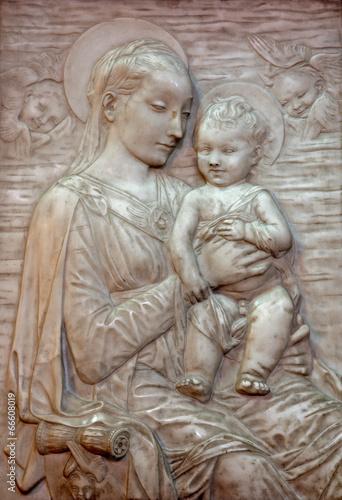 Veinna - Relief of Madonna  in Minoriten church