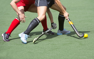 Field hockey close up