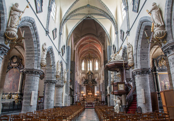 Gent - Main nave of Saint Jacob s gothic church