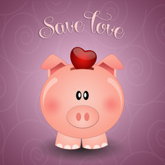 Piggy bank for save love