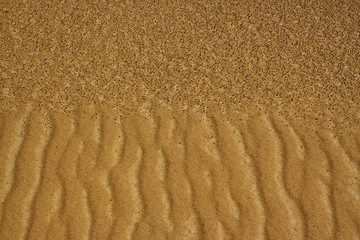 Sand texture in desert made by gold and black sand