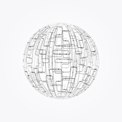 Abstract technology sphere background