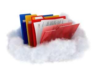 Folders on cloud.