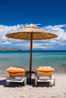 Chairs and umbrella on a beautiful beach