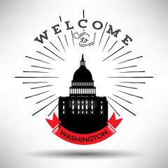 Washington DC City Typography Design