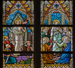 Brugge - The Resurrected Christ  scene - st. Jacobs church