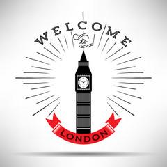 City of London Typographic Skyline Design