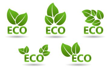 Ecology Icons. Eco vector illustration