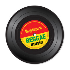 Reggae music vinyl record