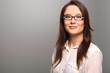 canvas print picture - Geschäftsfrau mit einem freundlichen Ausdruck