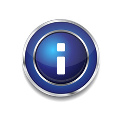 Info Circular Vector Blue Web Icon Button