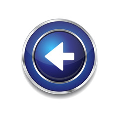 Left Key Circular Vector Blue Web Icon Button