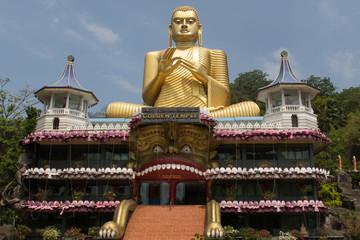 Golden temple in Dambulla, Sri Lanka